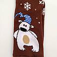 Теплые махровые носки женские шоколадные с мишкой 35-41 размер, фото 2