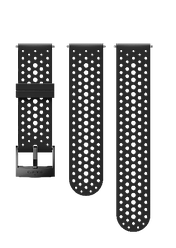 Силиконовый ремешок для смарт-часов SUUNTO 24 ATH1 SILICONE STRAP BLACK/BLACK, размер S+M