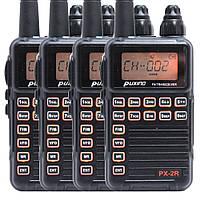 Комплект из четырех Раций Puxing PX-2R UHF