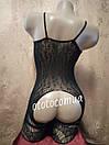 Сексуальная боди-сетка с рисунком в упаковке/ бодистокинг сексуальное белье эротическое белье, фото 2