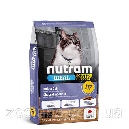 Корм Nutram для взрослых кошек | Nutram I17 Ideal Solution Support Finicky Indoor Cat Food 320 грамм, фото 2
