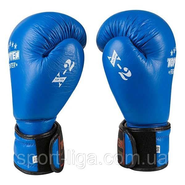 Боксерские перчатки TopTen X-2, кожа, 8, 10, 12 oz