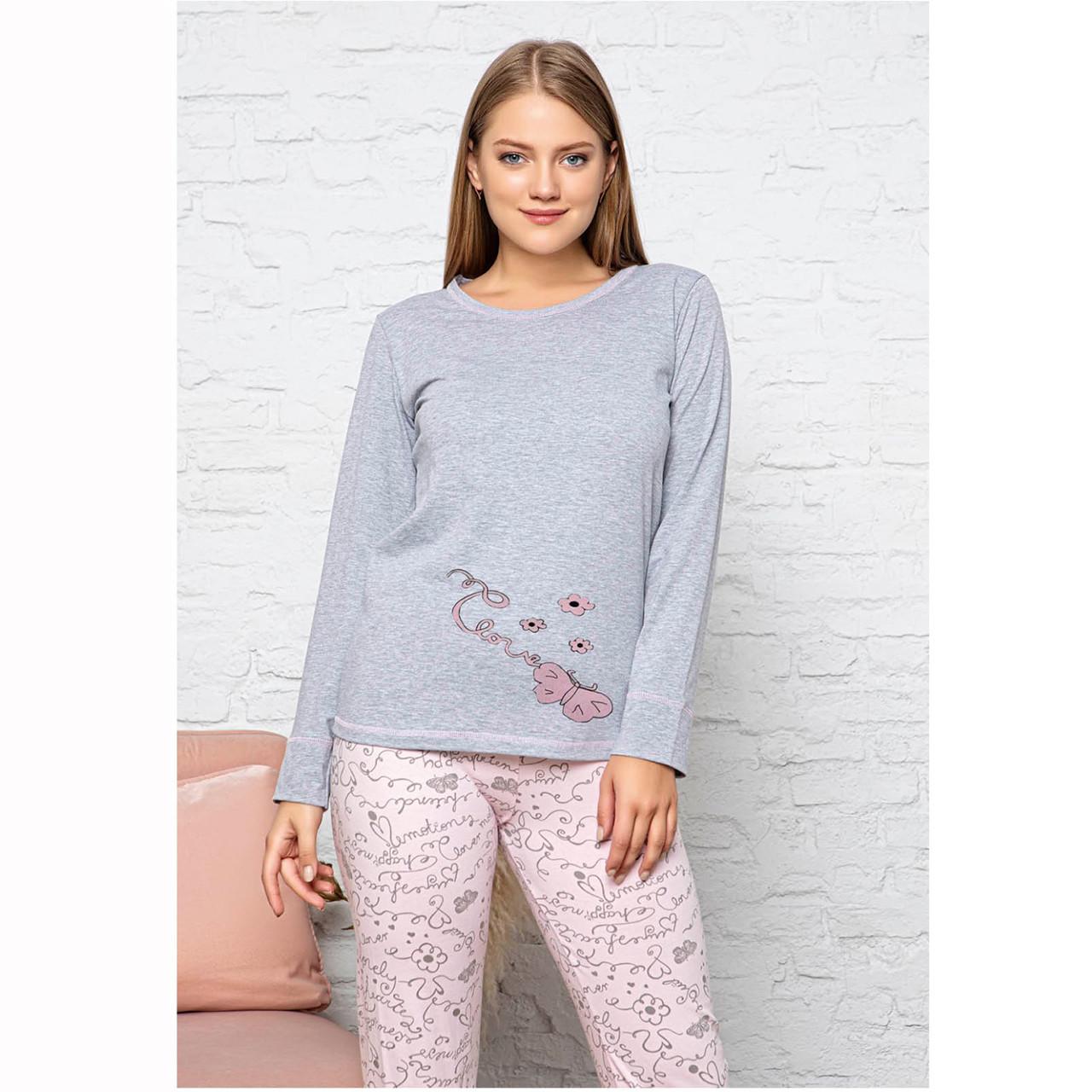 Пижама женская турецкая котон трикотажная Любовь Seyko S-XL