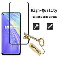 Защитное стекло для Realme 7 Pro черный, фото 1