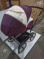 Б/у Универсальная коляска Geoby C3018 2 в 1, бордового цвета до 3-х лет в неполной комплектации.