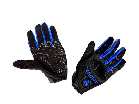 Перчатки SCOYCO MC-24 (size:M, синие, текстиль), фото 2