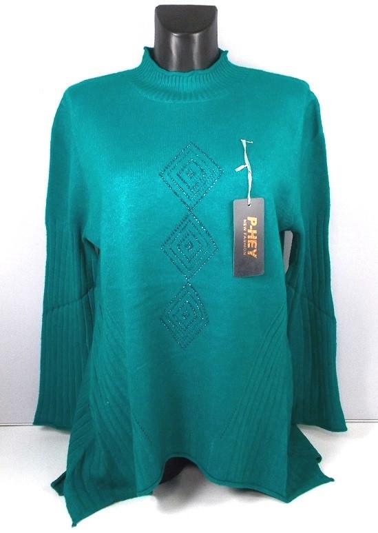 Туника - свитер женская 20-6 размер 54-58 серая