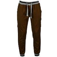 Брюки мужские SoulCal&Co Ribbed Cargo коричневые, фото 1