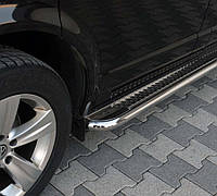 Пороги на Мицубиси Паджеро Спорт (d: 42мм) Mitsubishi Pajero Sport 2008+