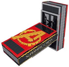 Книга-конструктор шахматная доска AVENGERS vs JUSTICE LEAGUE + коллекция из 32 минифигурок