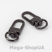Застежка карабин металлический. Застежка-карабин для ключей. Брелок для ключей 1 штука Black, фото 1