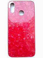 Чохол для Huawei P20 Lite червоний з візерунком