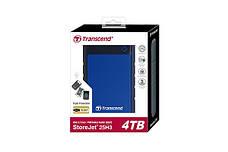 "Внешний жесткий диск Transcend StoreJet 4TB 2.5 ""USB 3.1 StoreJet 25H3 Blue (TS4TSJ25H3B), фото 3"
