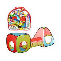 Намет дитячий з тунелем Bambi M 2958 ігрова 4 входи 230х78х91см