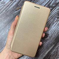 Чехол книга для Xiaomi Redmi 4a с эко кожи с подставкой магнитом книжка на телефон сяоми редми 4а золотая STN