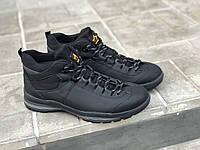 Замшеві чоловічі черевики арт 3620-1 сін/н розміри 42-45, фото 1
