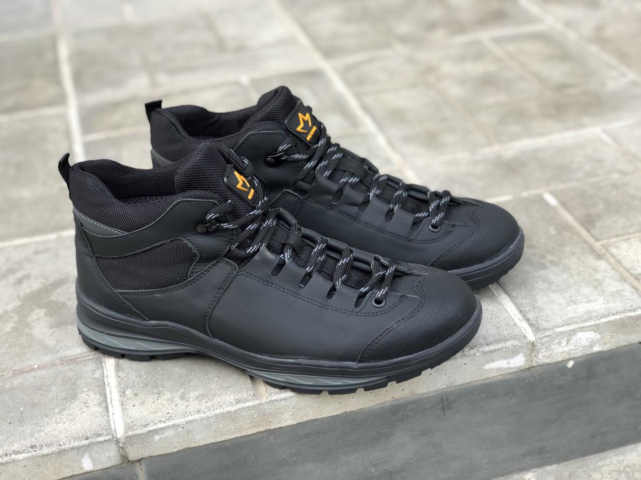 Замшеві чоловічі черевики арт 3620-1 сін/н розміри 42-45
