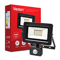 Прожектор LED с датчиком движения 30W 2 900Лм 6500K 175-250V IP65 ТМ Vestum, фото 1