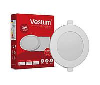 Круглый светодиодный врезной светильник Vestum 3W 4000K 220V 1-VS-5101