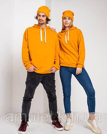 Парні ХУДІ UNISEX помаранчевий колір, фото 2