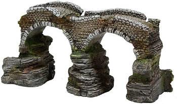 Декор в аквариум Романский мост М 25*13*13 см Croci Amtra