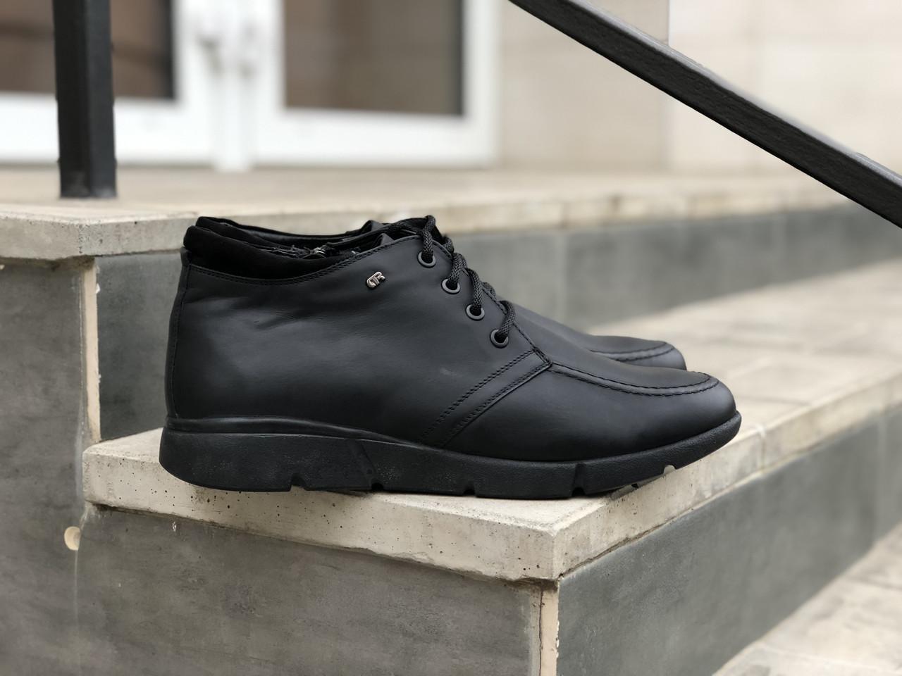 Замшеві чоловічі черевики арт 3589 розміри 43,44