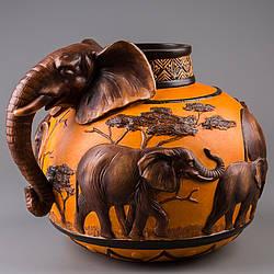 Ваза Veronese Слоны 26 см 72001