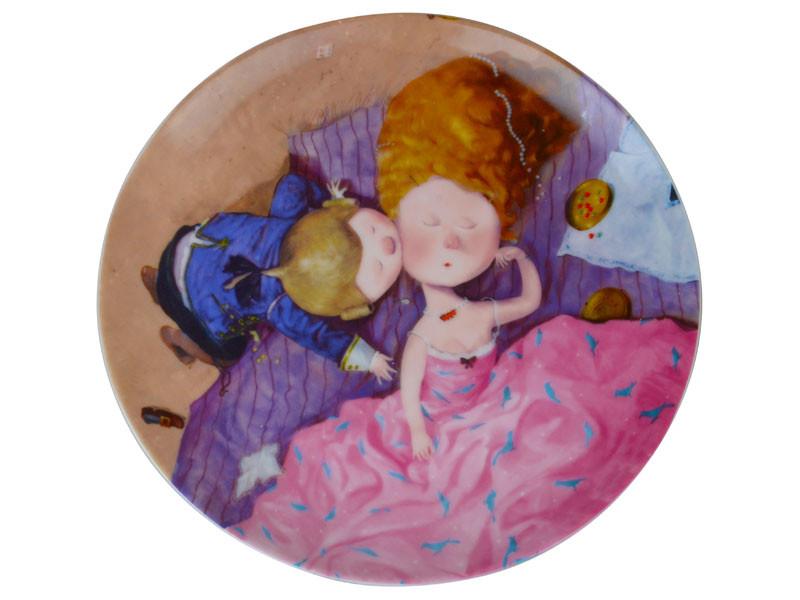 Тарілка декоративна Gapchinska Поцілунок в щічку 20 см 924-333