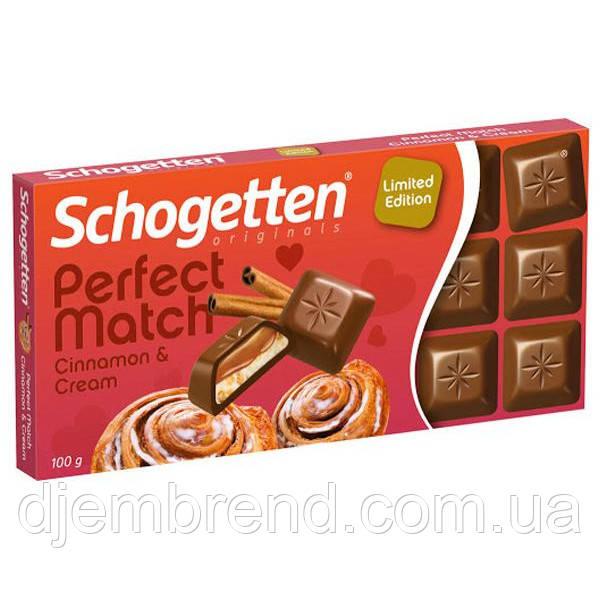 Шоколад молочный Limited Edition Schogetten Perfect Match Cinnamon & Cream 100г