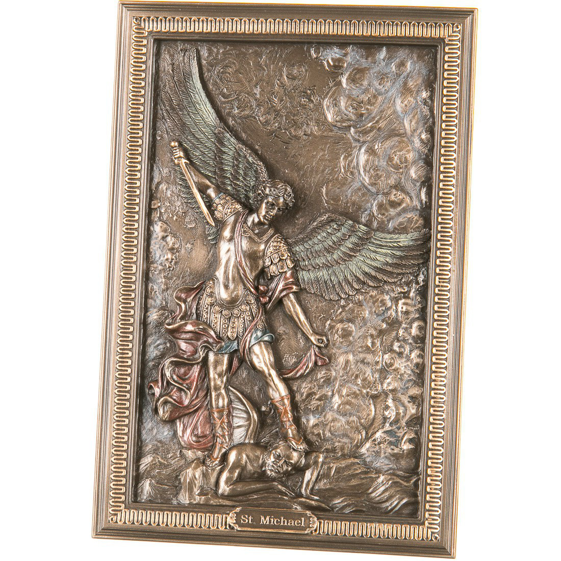 Панно настенное Veronese Архангел Михаил 23,5 см  77174A4 (1)