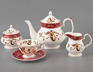 Чайний набір Lefard Червона рута на 15 предметів 264-366