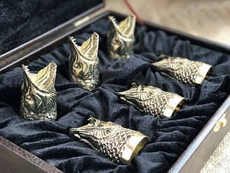 Стопки бронзовые перевертыши Люкс Nb Art Щука 6 шт 48440034