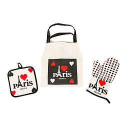 Набір для кухні Lefard Париж (фартух,прихватки,рукавичка) 004HT