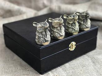 Набор бронзовых чарок Nb Art Медведь 4 шт 48440028