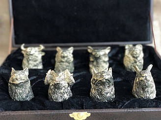 Набор бронзовых чарок Nb Art Охота 8 шт 48440035