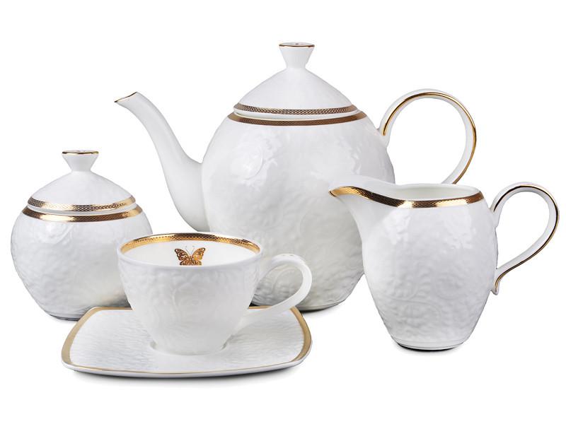 Чайний набір Lefard Золота метелик на 15 предметів 586-324