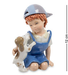 Статуетка Pavone Хлопчик з собачкою 12 см 1104579