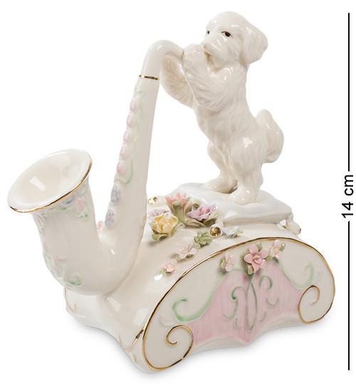 Статуетка музична Pavone Щеня і саксофон 14 см 1103364