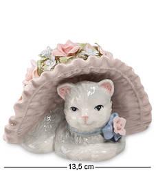 Статуэтка фарфоровая музыкальная Pavone Кошка в шляпе 13.5 см 1101306