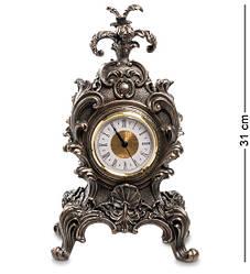 Часы каминные Veronese в стиле барокко Королевский цветок 31 см 1902581