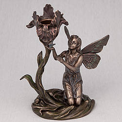 Подсвечник Veronese Фея с цветком 18 см 10282