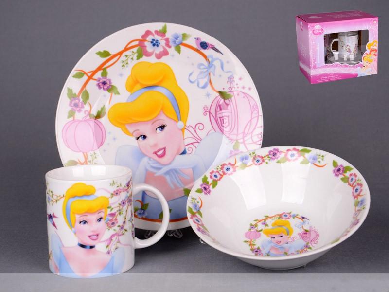 Набір дитячого посуду Lefard Принцеса 3 предмета 39-126