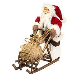 Фігурка новорічна Санта 34х30 см Uniсorn Studio 500033NC