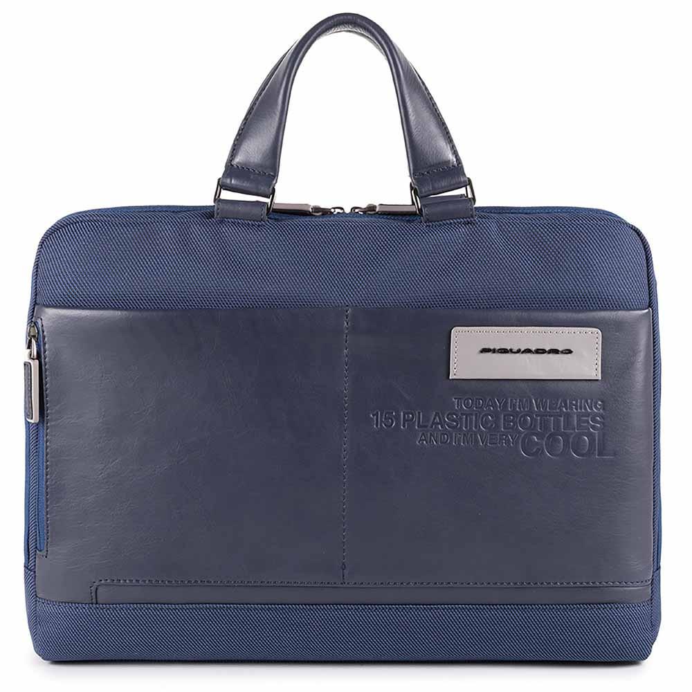 Кожаный портфель Piquadro Ade, синий