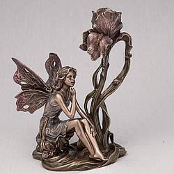 Подсвечник Veronese Фея с цветком 20 см 10281 A4