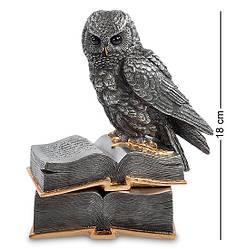 Шкатулка Veronese Сова на книгах 18 см 1901901