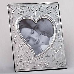 Фоторамка настольнаяLefard Сердце в алмазах 17х21 см 077C