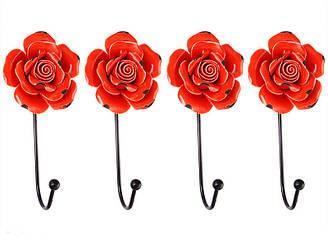 Набор крючков из 4 шт на стену Lefard Красные Розы  8х6х16 см