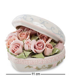 Статуетка музична Pavone Серце з трояндами 11 см 1103371