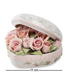 Статуэтка музыкальная Pavone Сердце с розами 11 см 1103371